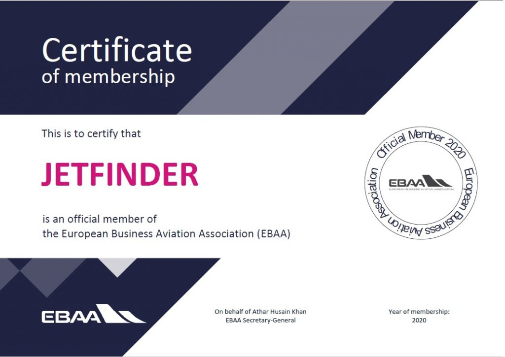 Jet Finder EBAA Membership