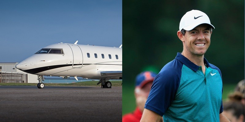 Rory McIlroy Bombardier Challenger 605