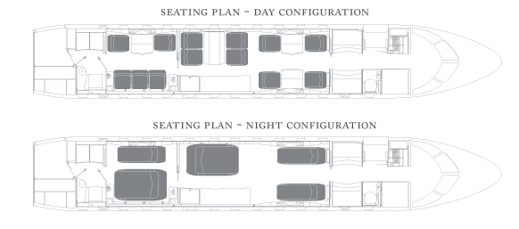 Global 5000 cabin layout