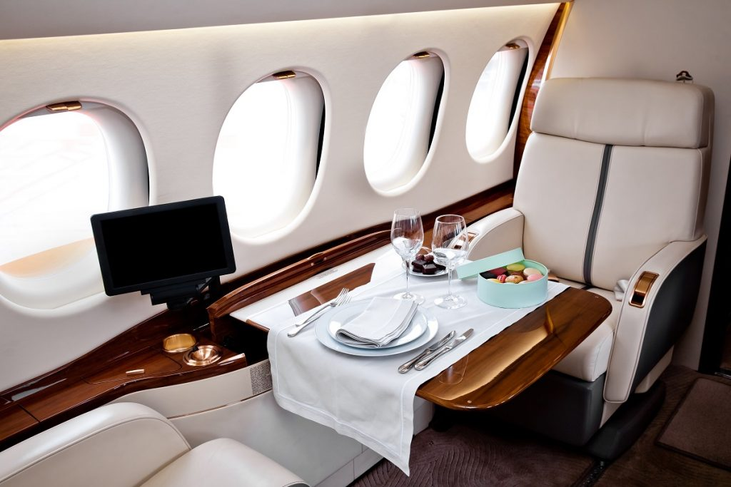 Catering on Board a Private Jet